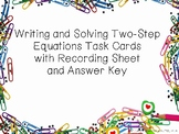 Writing and Solving Two-Step Equations Task Card Set