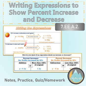 Writing and Using Expressions for Percent Increase and Decrease - 7.EE.A.2