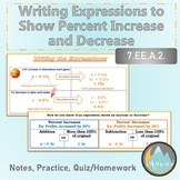 Writing and Using Expressions for Percent Increase and Dec