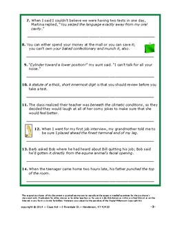 Writing & Vocabulary Fun: An Off-the-Wall Look at Idioms   FREE!