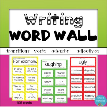 Writing and Vocabulary Word Wall