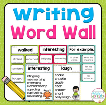 Writing Word Wall Cards and Posters