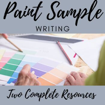 Writing and Vocabulary using Paint Samples