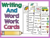 Writing and Word Work Cards