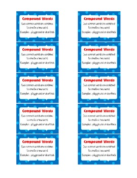 FREE Writing and Word Work Definition Signs and Student Minis PRINTABLE