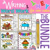Writing and Word Work for all Seasons Growing Bundle