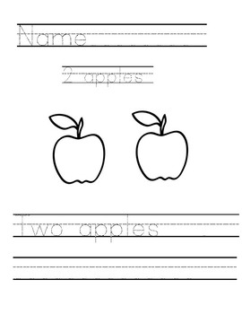 Writing and counting with apples