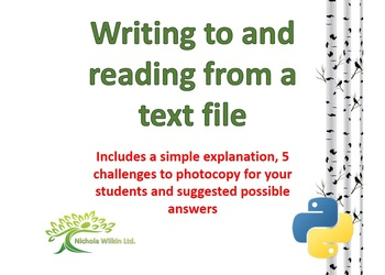 Writing and reading from a text file in Python