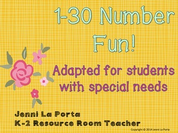 Writing and recognizing numbers to 30
