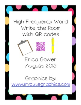 Writing around the room with QR codes