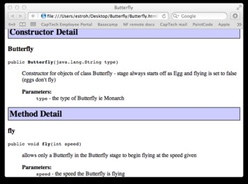 Writing basic class from Java API