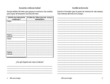 Writing booklets(Spanish)Unidades 1-10 Grado 5-Benchmark Adelante