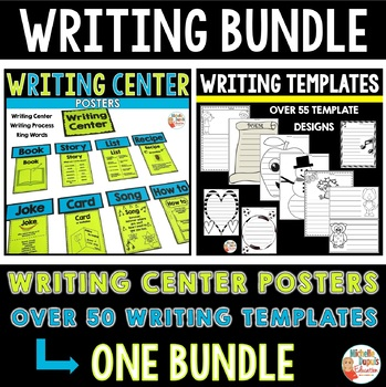 Writing bundle (94 pages: writing center, writing process, templates and more)