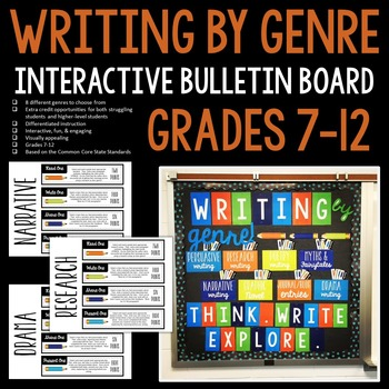 Writing by Genre Interactive Bulletin Board: Grades 7-12