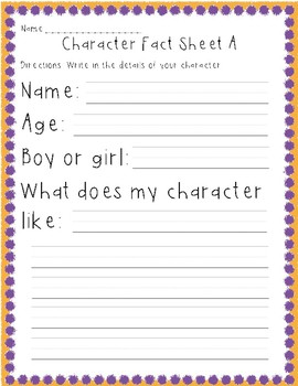 Writing center: character and story building