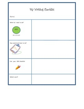Writing checklist: get ready and write!