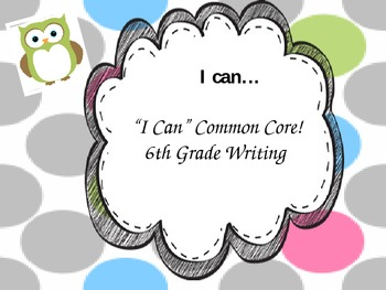 Writing common core I can posters