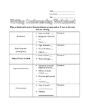Writing conference worksheet/checklist