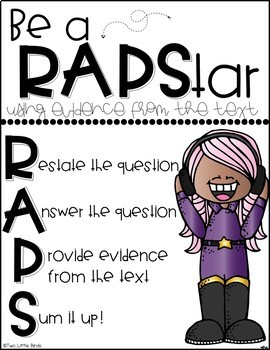 Text Evidence: Using Text Evidence Posters, Flipbook, Bookmarks, Anchor Charts