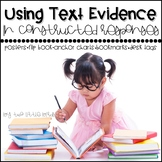 Text Evidence: Using Text Evidence Posters, Flipbook, Book