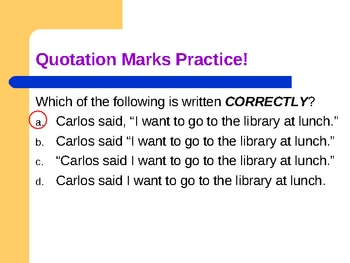 Writing conventions: Quotation Marks