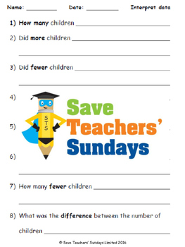 Writing data handling questions lesson plans, worksheets and more