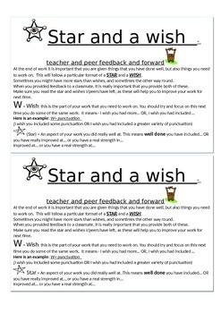 Writing feedback and feedforward