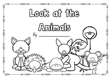 Writing flip book (Look at the...) Australian Animals