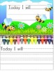 Writing for Daily Goal Setting {Kindergarten/First/Second/