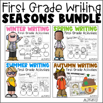 Writing for First Grade Seasons Bundle