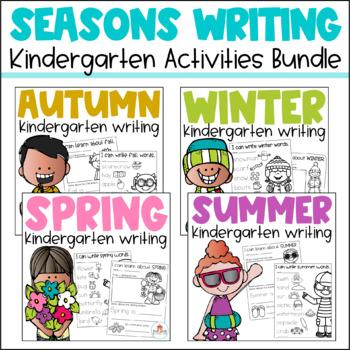 Writing for Kindergarten Seasons Bundle