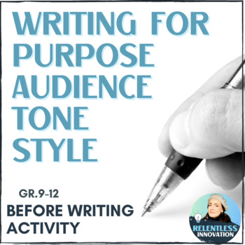 Writing for Purpose, Audience and Style - Introduction