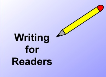 Writing for Readers: Lucy Calkins Unit of Study Promethean Flipchart