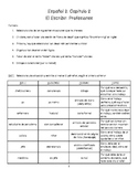 Writing for Spanish 2 (professions) / El escribir para español 2 (profesiones)