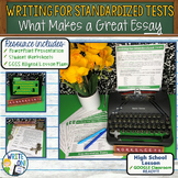 WRITING FOR STANDARDIZED TESTS - Introduction to Writing - High School
