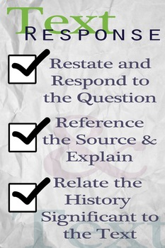 Writing for primary source historical analysis poster in three steps