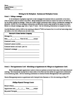 Writing for the Workplace: Business and Workplace Forms