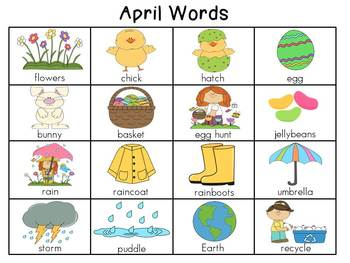 Writing Center Posters Monthly Word Charts