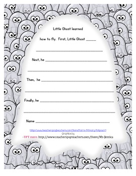 """Writing frame to go with the book """"Little Ghost"""""""