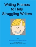 Writing Frames to Help Struggling Writers