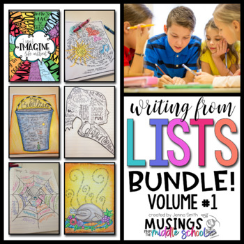 Writing from Lists: Bundle (Volume #1)