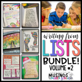 Writing from Lists: Bundle (Volume #2)