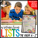 Writing from Lists: Me from A to Z