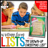 Writing from Lists: My (Almost!) Grown-Up Christmas List (Christmas Edition)