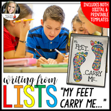Writing from Lists: My Feet Carry Me...