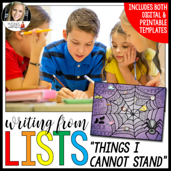Writing from Lists: Things I Cannot Stand