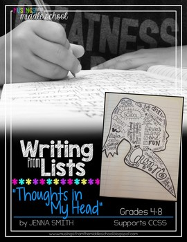 Writing from Lists: Thoughts In My Head