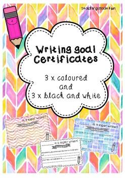 Writing goal certificates