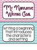 Narrative Writing goals