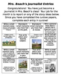 Writing ideas for monthly newspaper